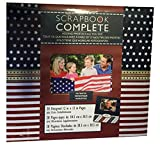 Scrapbook Complete Patriotic Theme with American Motiff Sheets and Other Decorations