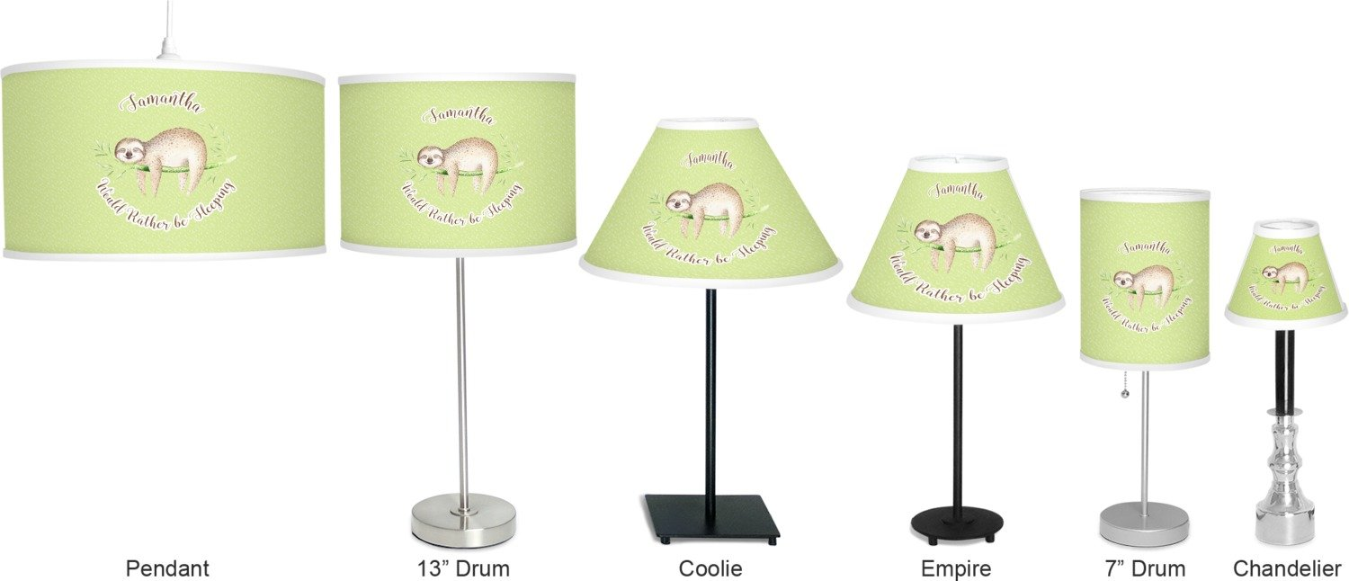 RNK Shops Sloth Coolie Lamp Shade (Personalized) by RNK Shops (Image #3)