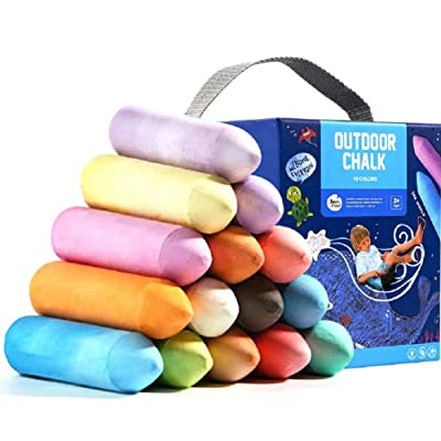 Fantasy Closet Sidewalk Chalk for Kids Toddlers Jumbo Chalk 20 Pieces-15 Bright & Cheerful Colors-Washable Outdoor Side Walk Outside Driveway Easter: Office Products