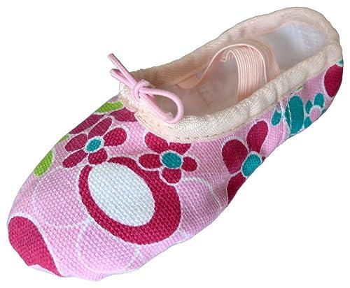 Dancina Zapatillas de Ballet de Lona Rosa para Niñas - Su Primer Zapato de Baile: Amazon.es: Zapatos y complementos