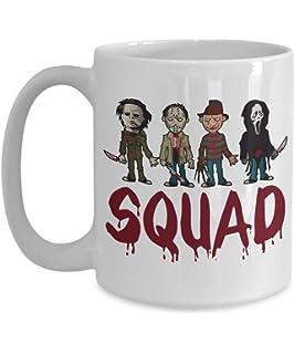 b40a7e023c3 Squad Coffee Mug - Squad Michael Myers Jason Voorhees Freddy Krueger  Leatherface - Halloween