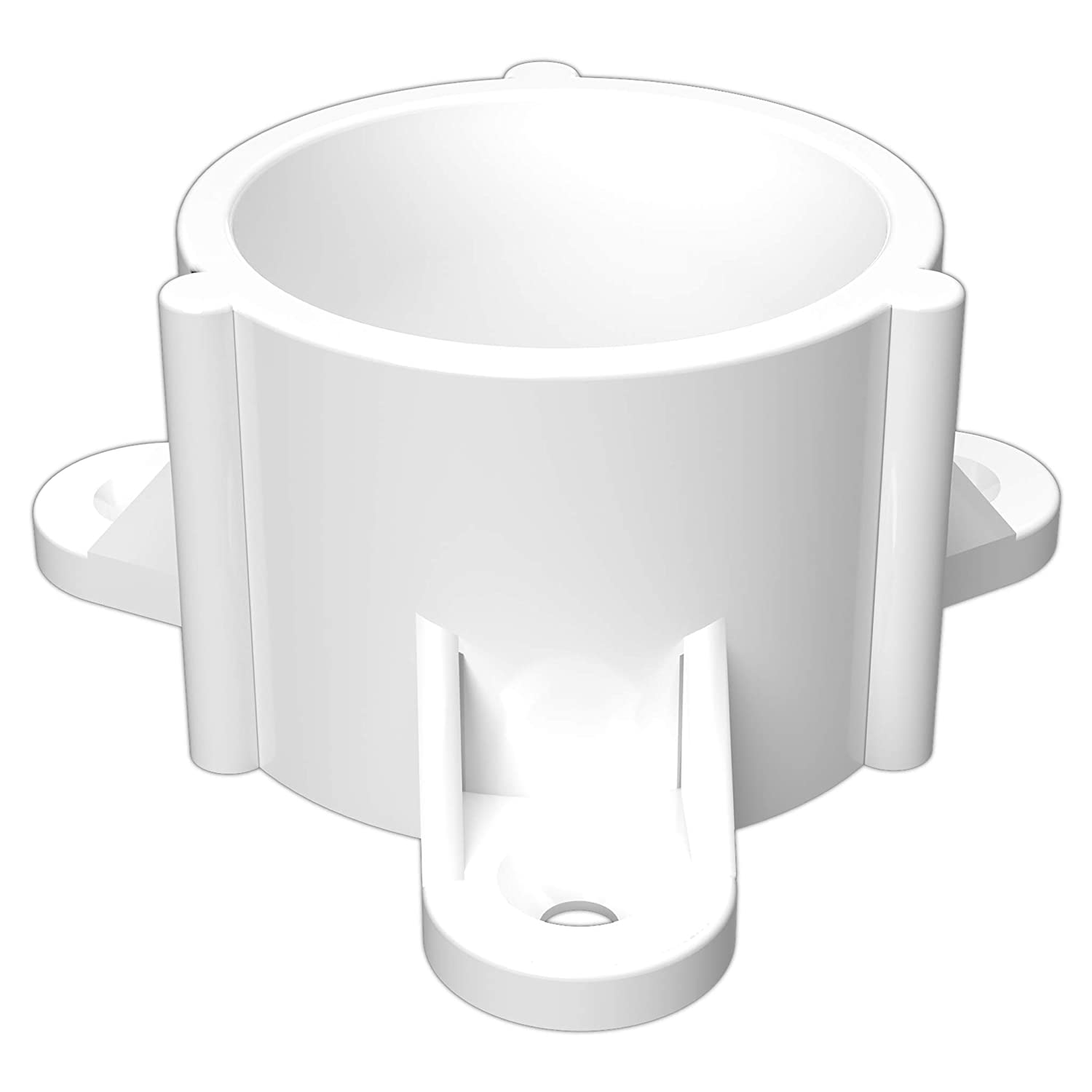 "FORMUFIT F112ECT-WH-10 PVC Table Cap, Furniture Grade, 1-1/2"" Size, White (Pack of 10)"