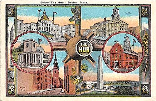 Old Hub - The Hub & Old North Church Boston Massachusetts Postcard