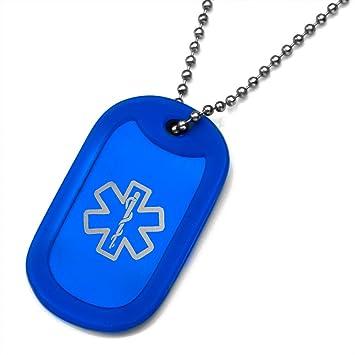 amazon com stickyj usa blue medical dog tag silencer with 16 inch