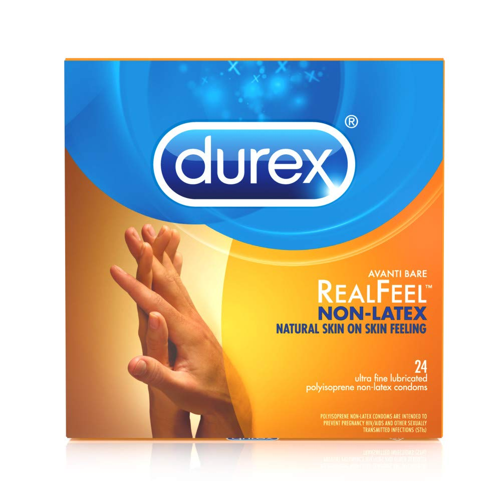 Amazon.com: Condoms, Non-Latex, Durex Real Feel Avanti Bare Polyisoprene,  24 Count: Health & Personal Care