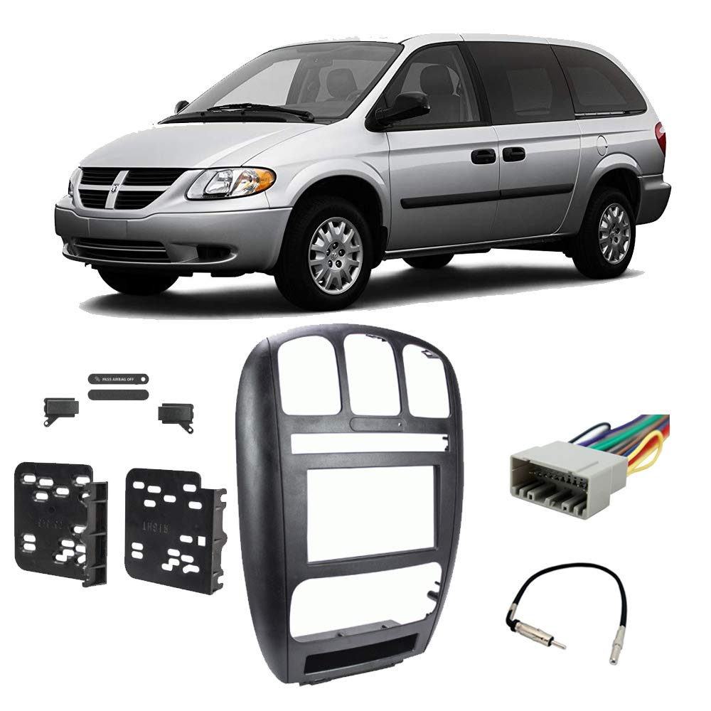 Dodge Caravan Grand Caravan 2002-2007 Double DIN Stereo Radio Install Dash Kit