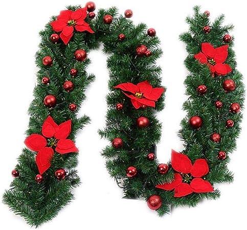 2.7m De La Guirnalda con Luces Led para Chimenea Escalera De Navidad Fiesta De Navidad Decoración del Árbol: Amazon.es: Hogar