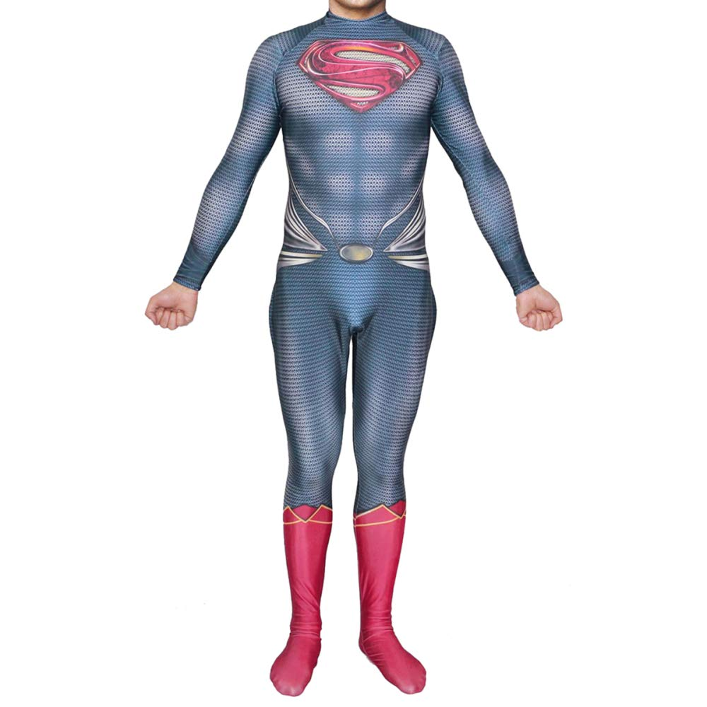 ZYFDFZ Superman Cosplay Kostüm DC Hero Kostüm Ball Movie Bodysuit Cosplay (Farbe : 01, größe : XXL)