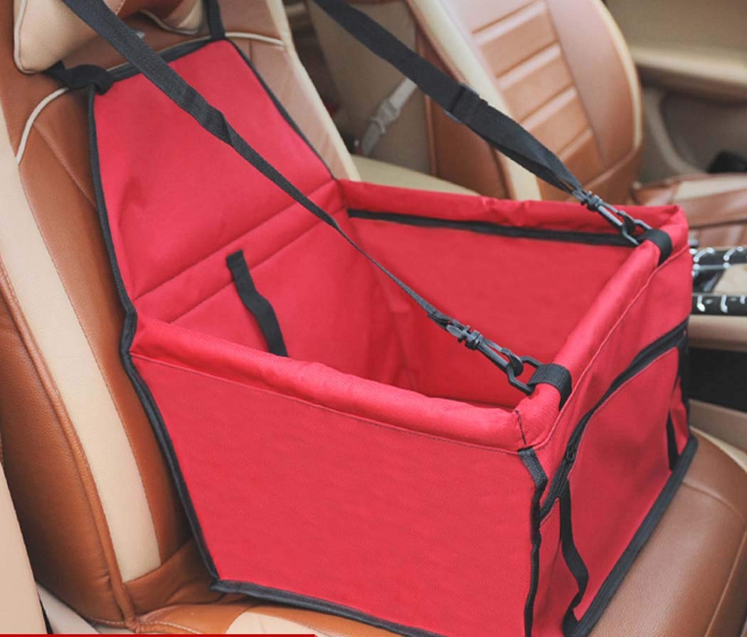 Red Pet car seat Cover Front seat,Pet Safety Dog Booster seat coverDog Carrier, Durable car Back Dog car seat Basket Puppy Medium Sized Puppy cat,Pink