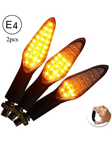 2X FD-MOTO E-MARKED Motorbike Motorcycle LED Indicators Chrome Body Scooter