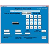 Small Business Employee Time Clock Software, Single PC, Up to 100 Employees (Windows XP,Vista,7,8 or 10) , No Monthly Fees, Touch Screen Ready