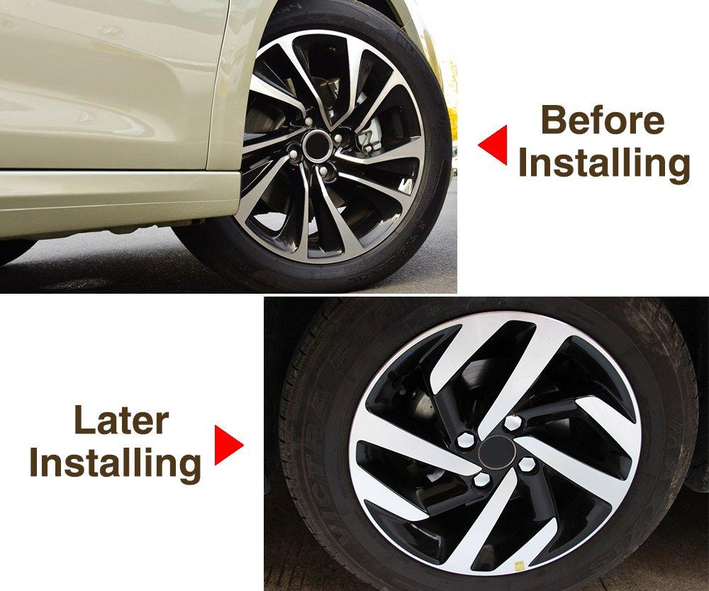 Hikig Tuerca de rueda cubierta de llanta rosca Capor Decor para Peugeot 207 301 307 308 408 508 3008 para Citroen C4l C5 C2 16 piezas.