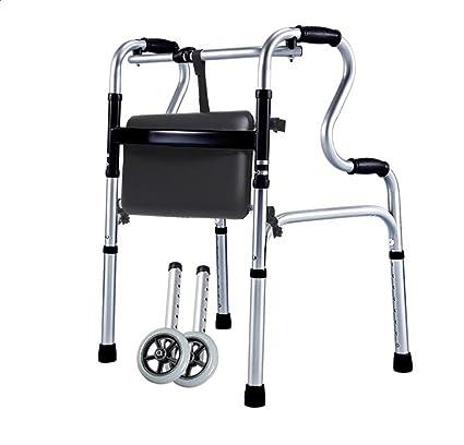 Rventric Aparato De Rehabilitación para Ancianos Walker Ligero Apoyabrazos De Pie Ayuda para Caminar De Aluminio