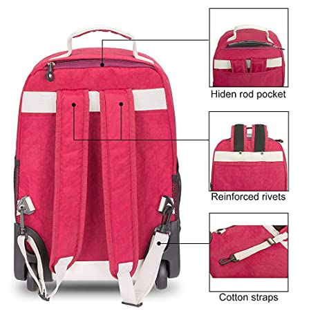 Amazon.com: C-Xka Rolling School Bag, Wheeled Laptop Backpack College Backpack, Business Backpack, Travel Backpack Wheeled Rolling Decompression Backpack ...