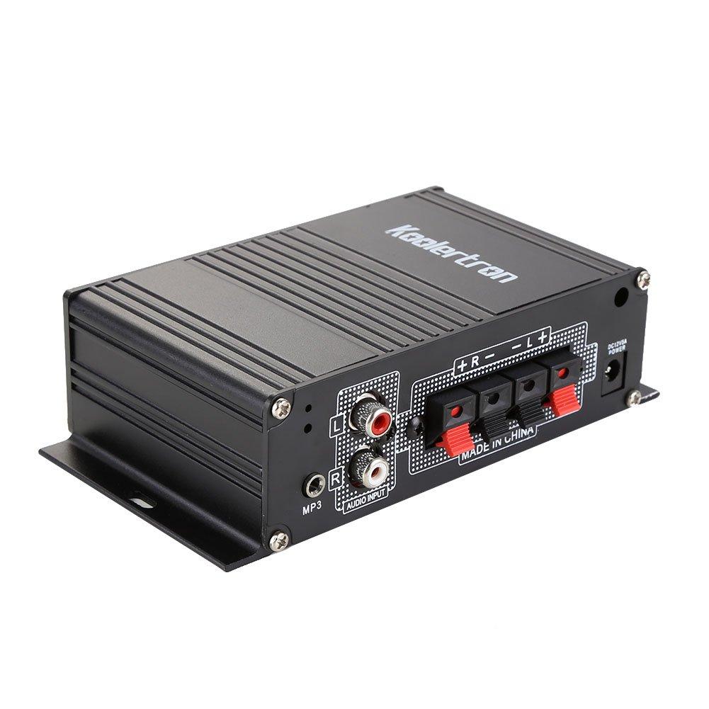 Amplificador Integrado tamaño compacto Mini de alta potencia Hi Fi estéreo USB MP3 SD AMP Amplificador de control remoto para el hogar: Amazon.es: Hogar