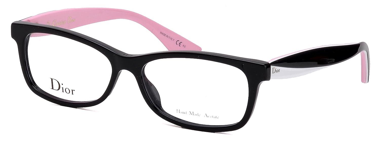 c5fdc80b499a Amazon.com  Christian Dior Women s Eyewear Frames CD 3289 55 mm Black White  Pink LWR  Clothing