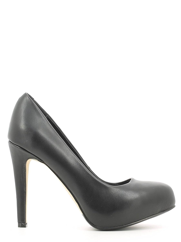CAF NOIR MF901 zapatos negros de tacón de cuero mujer dcollet ...