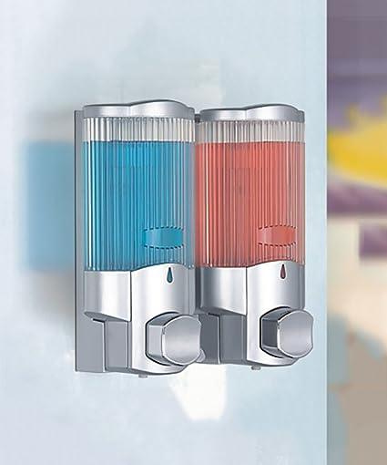 KKCFZAOYE Dispensador de jabón Plastic Wall-mounted Shampoo Gel de ducha Soap Dispenser Pump Prensa