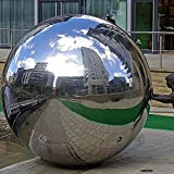 6 stainless steel gazing ball - DaJun 304 Stainless Steel Hollow Ball Seamless Mirror Ball Sphere Gazing Balls Home Garden Ornament Decoration 12 inch