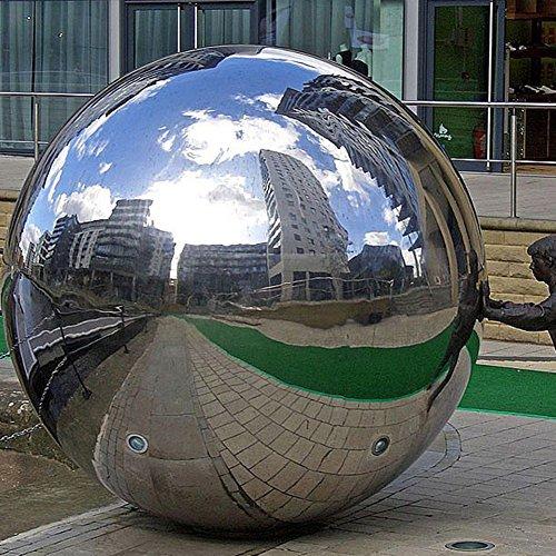 DaJun 304 Stainless Steel Hollow Ball Seamless Mirror Ball Sphere Gazing Balls Home Garden Ornament Decoration 12 inch