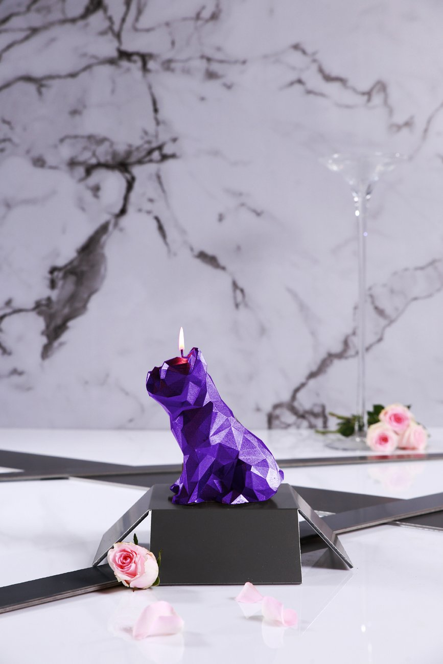 Candellana Candles Candellana Bulldog Poly Candle-Violet Metallic Large