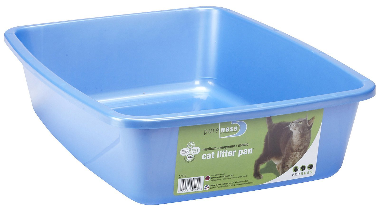 Medium Cat Pan - 16 in. x 12 in. x 4 in. (Colors may vary)