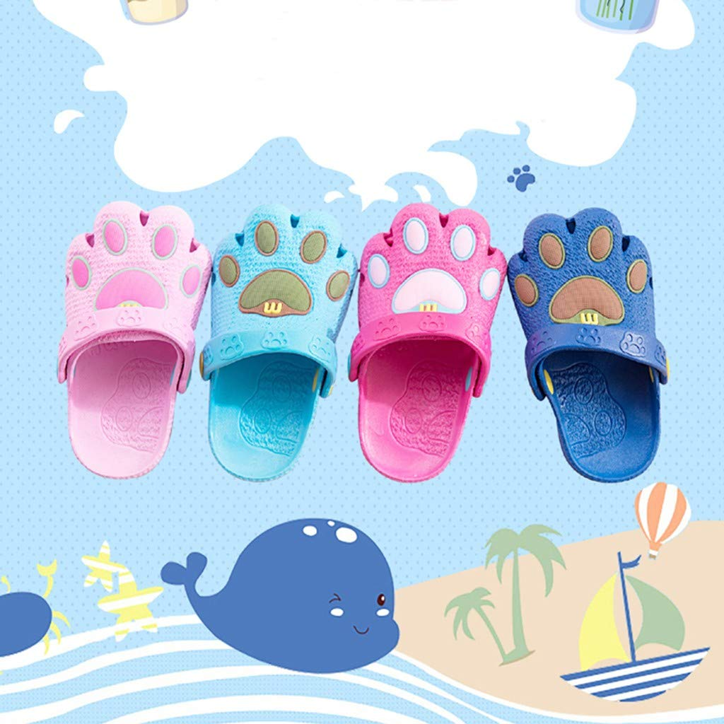 Kimanli Infant Kids Baby Boys Girls Cartoon Paw Cute Hollow Beach Sandals Casual Shoes