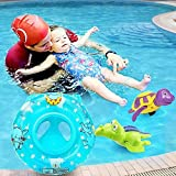 Sealive Child&Baby Inflatable Safety Seat Float Ring Raft Chair Pool Swimming Toy With Handle,Useful&Funny In The Bathtub At Home Blue Or Pink,with a Inflator Pump (Blue)