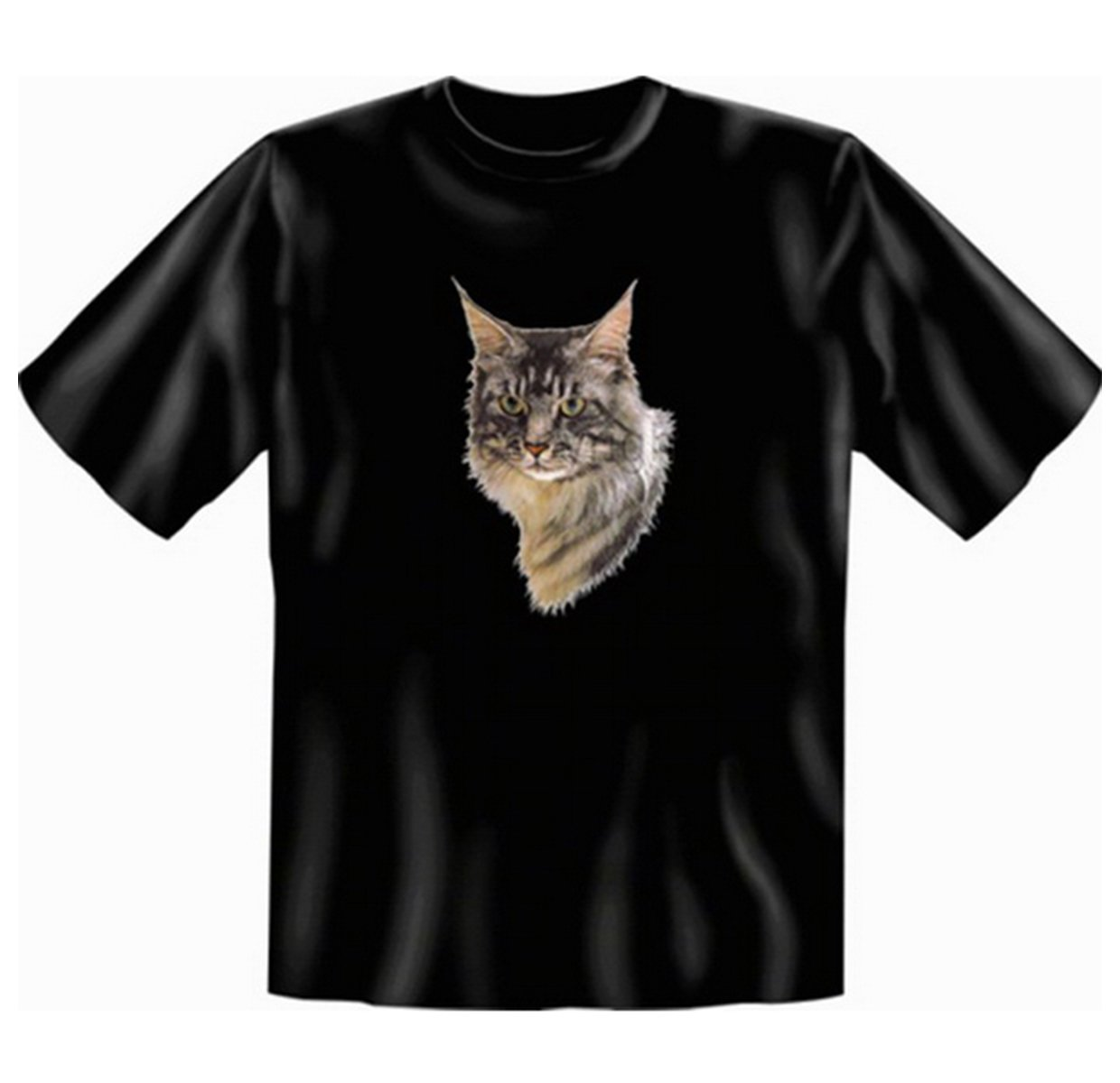 Cat Maine Coon Kittens T-Shirt Remote Control Black