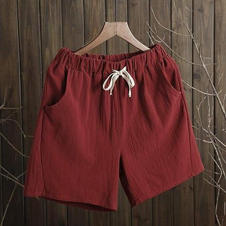 DKXLW Pantalones Cortos De Mujer,Color Rojo Herrumbre Y Shorts De ...