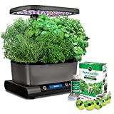 Countertop Herb Garden AeroGarden Harvest Elite with Gourmet Herb Seed Pod Kit, Platinum