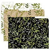 Greenery File Folders -Set of 6, 3 designs, 2 folders per design 1/3-Cut Tabs, File Folder size: letter. Made in the USA.