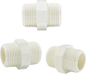 Omitfu 3 Pcs PVC Garden Hose Adapters 1