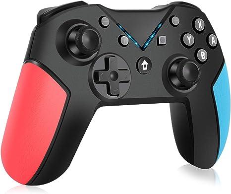 OCDAY Mando para Nintendo Switch, Bluetooth Pro Controller Controlador, Switch Gamepad Multifunción Con Batería Recargable, Doble Vibración, Gyro Axis y Turbo Ajustable para Nintendo Switch/ Lite: Amazon.es: Videojuegos