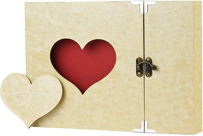 Álbum de recortes Álbum familiar DIY hecho a mano con caja de regalo adicional para Navidad San Valentín cumpleaños y regreso a casa Beige