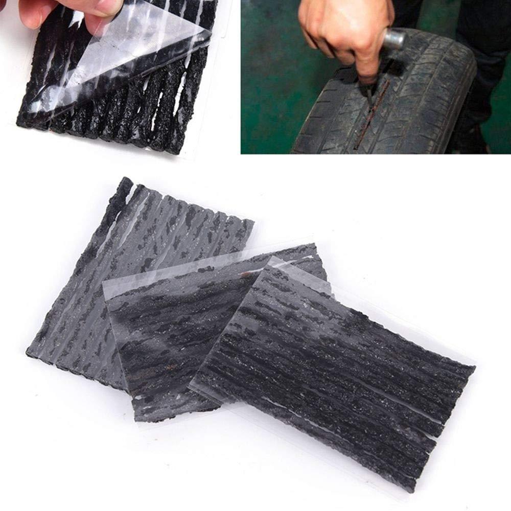 Trousse /à outils de r/éparation de pneu de voiture Bandes de r/écup/ération de la perforation des pneus en caoutchouc Auto Seal