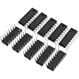 PIXNOR 10pcs L293D DIP 16-pin IC Stepper Motor Drivers Controllers (Black)