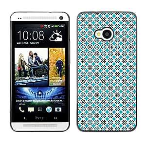ZECASE Funda Carcasa Tapa Case Cover Para HTC One M7 No.0002801