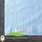 Easyshade 80% Heavy Duty White Shade Cloth Taped Edge With Grommets UV (14Wx16L, White)