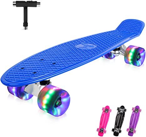 """Nuovi colori Skateboard 22 /""""CRUISER Board RUOTE SKATE BOARD PONTE COMPLETO"""