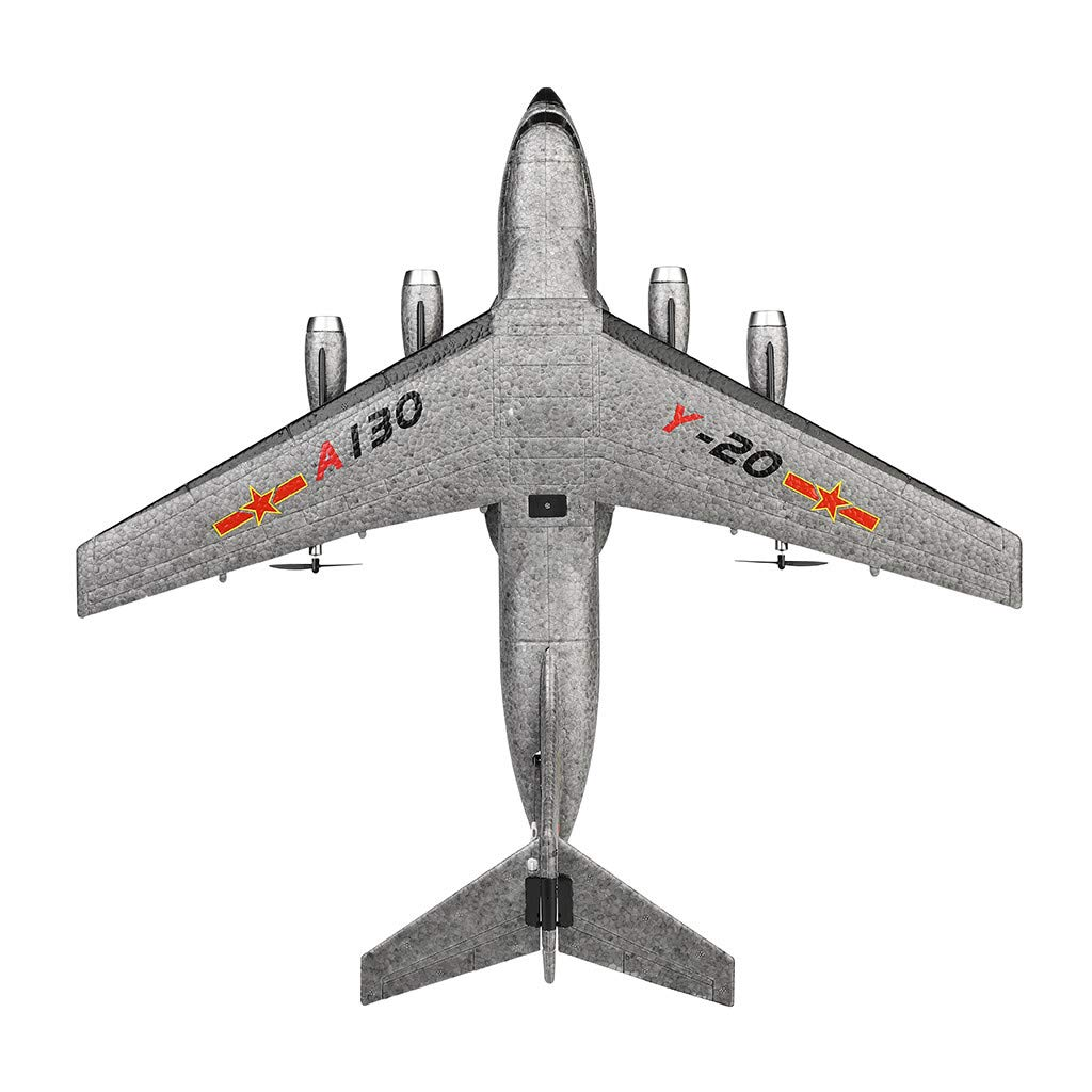 XK A130 Xian Y-20 Model Military Transport Aircraft 3CH design RTF Glider RC Airplane, EPP anti-crash material, 360° flip stunt skill, 200m Control distance, for beginners and professionals to choose by COLOR-LILIJ (Image #6)