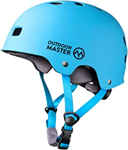 OutdoorMaster Skateboard Cycling Helmet - Two Removable Liners Ventilation Multi-Sport Scooter Roller Skate Inline Skating Rollerblading for Kids, Youth & Adults