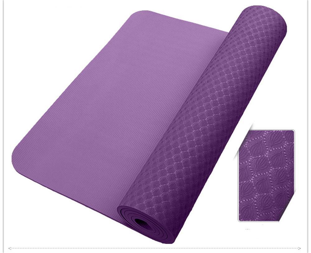 Rich violet 8mm Tapis de Yoga épais Glissement allongé Mat TPE de Yoga
