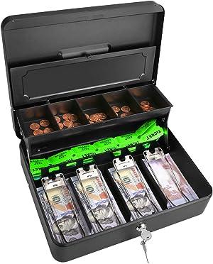 Cash Box Steel Money Box 11.8