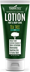 Tea Tree Oil Lotion with Neem Oil for Foot & Body - Helps Soothe Skin Irritation and Fight Body Odor - by Oleavine TheraTree