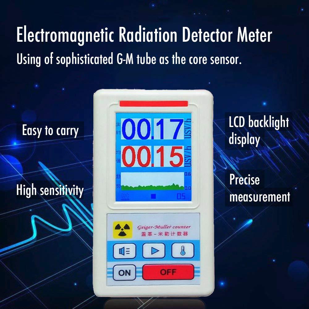 Fesjoy Pantalla Pantalla Geiger Contador Detector de radiación nuclear Dosímetro Personal Detectores de Mármol Beta Gamma X-ray Tester: Amazon.es: Bricolaje ...