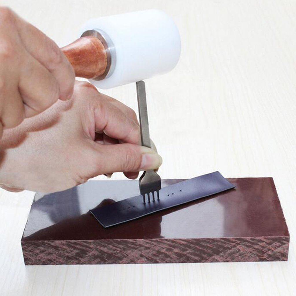3 Piezas Herramientas de Perforaci/ón de Dientes de Cuero DIY Perforadoras Herramientas Artesanales Costura Herramienta