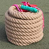 BAI-Fine Tug-of-war Rope 20m/25m/30m, Sports & Outdoors Strength Training Equipment Diameter 4 cm Linen Rope (Size : 20m)