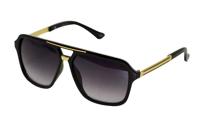 ccd9ef8e7a366 Amazon.com  Oversized Plastic Aviator Sunglasses – Retro Sunglasses classic  Aviators Large Classic Black  Clothing