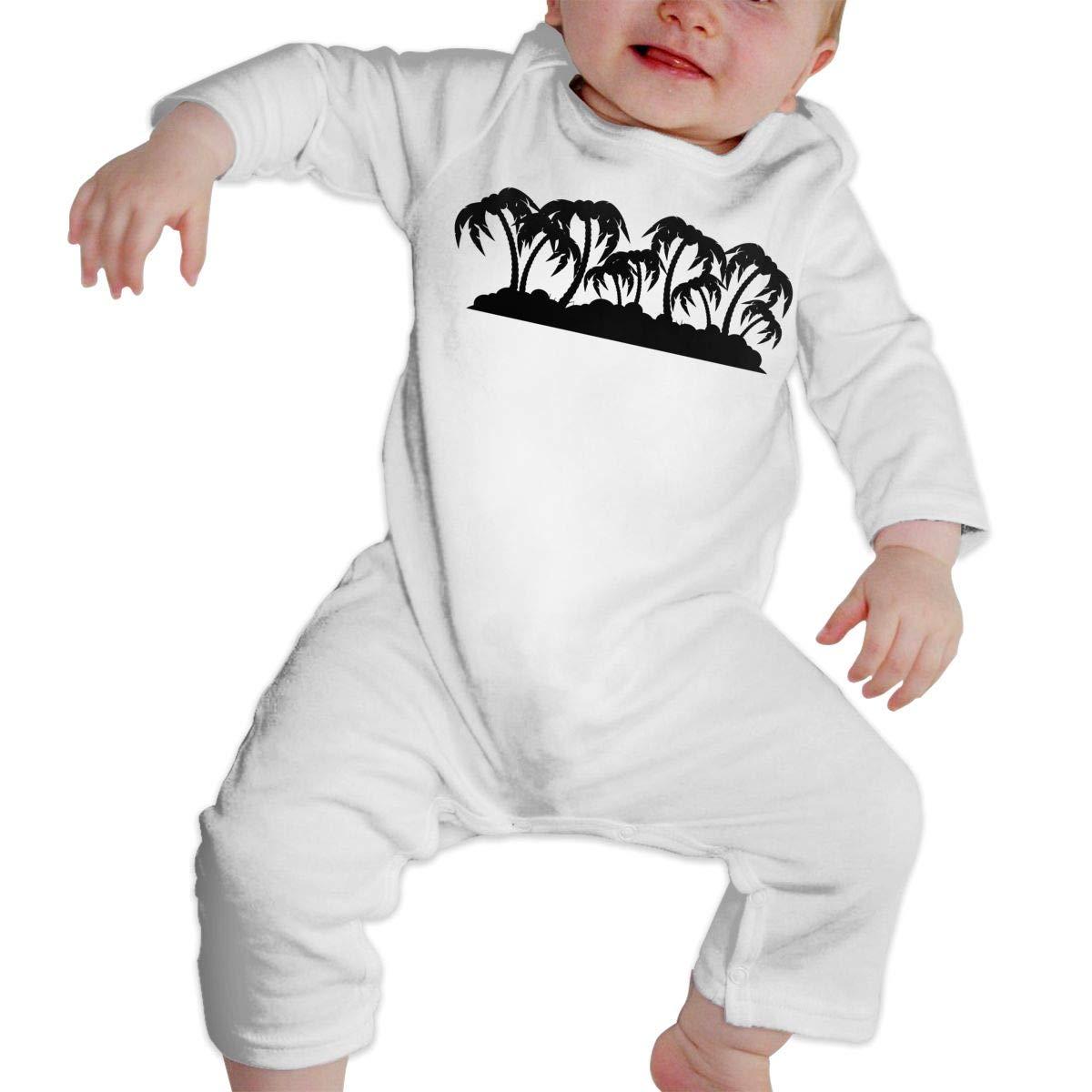 Palm Island Silhouette Baby Boy Girl Long Sleeve Romper Jumpsuit Bodysuits